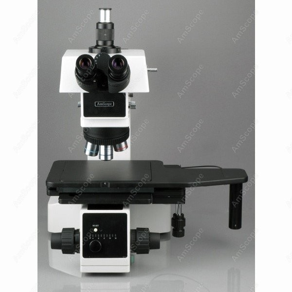 Metallurgical Microscope--AmScope Supplies 50X-500X Polarizing Darkfield Metallurgical Microscope with 8MP Digital Camera