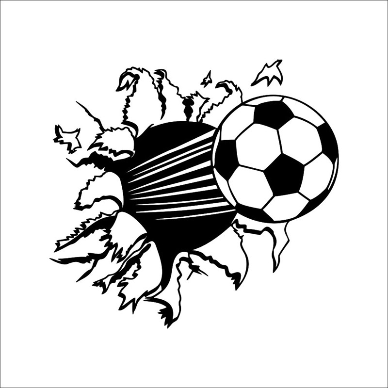 3D Wall Stickers Home Decor Football Decal Black White Soccer Ball For Kids Rooms Bedroom Art Fashion Modern Design 4851cm In From