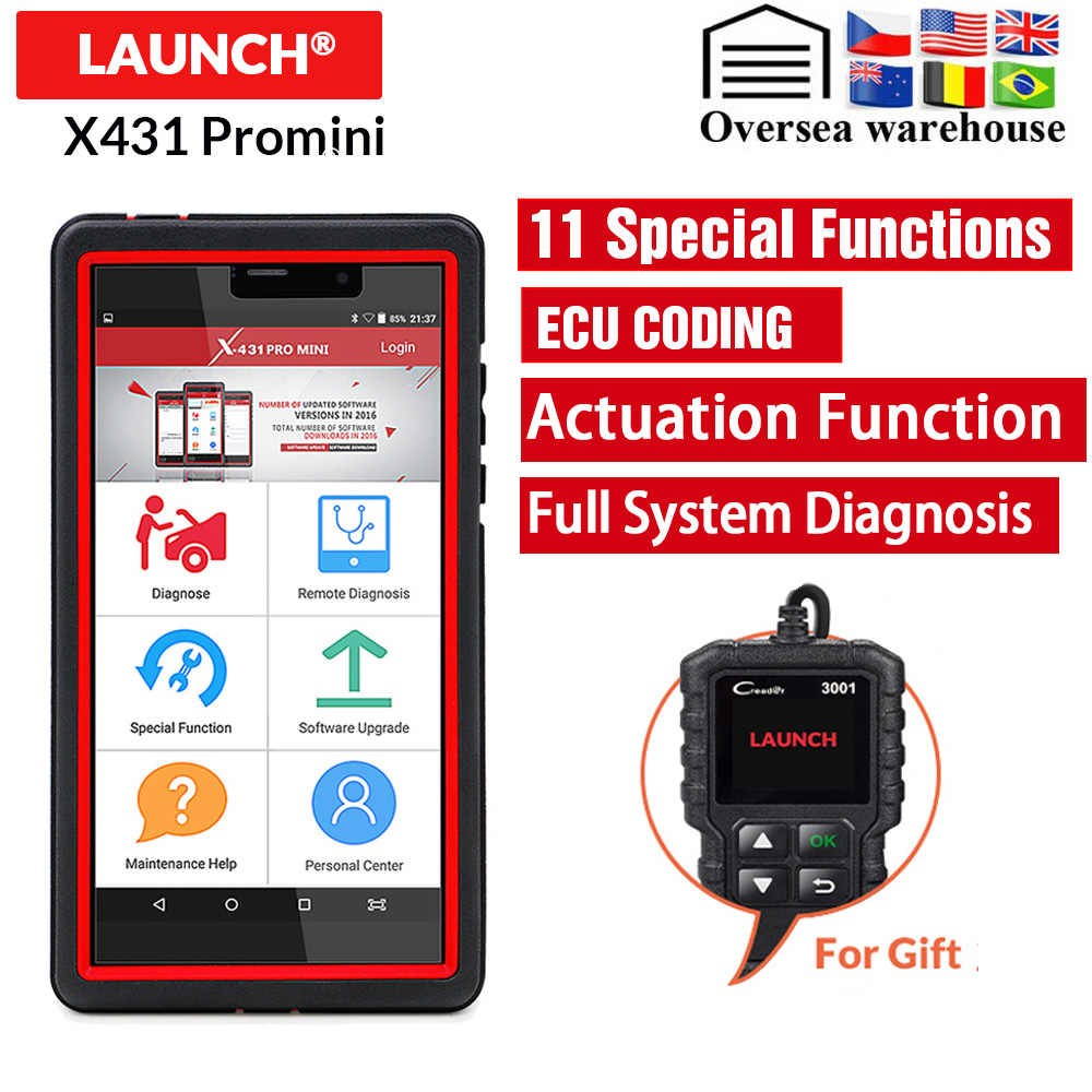 Launch X431 Pro Mini Car Diagnostic Auto Code Scanner Support WiFi/Bluetooth ECU Full Systems X431 V Pro mini 2 Year Free Update 53000459