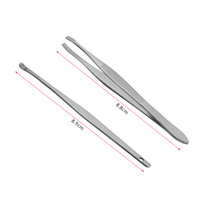 2018 Extrator De Cravo Herramientas Brush Blackhead Needle Acne Clip 8 Pieces Of Eyebrow Shear Ear Dig Tool Face Care Package