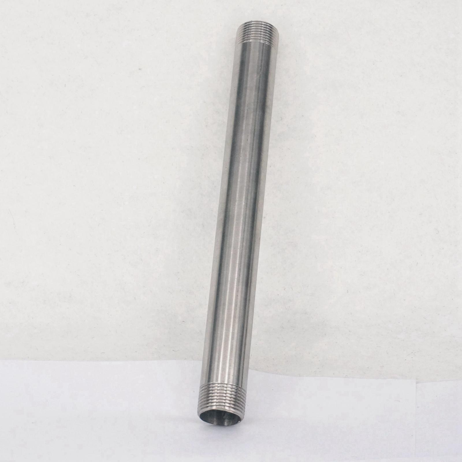 304 Stainless Steel Long Straight Pipe Fitting Connector Adapter 3/4