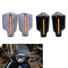 1 זוג אופנועים יד משמר ידית מגן מגן אופנוע מוטוקרוס קטנוע Windproof כידון HandGuards הגנת הילוך