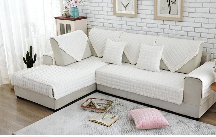 6 colors seat sofa covers flannel eco friendly anti mite - Fundas para sofas modernas ...