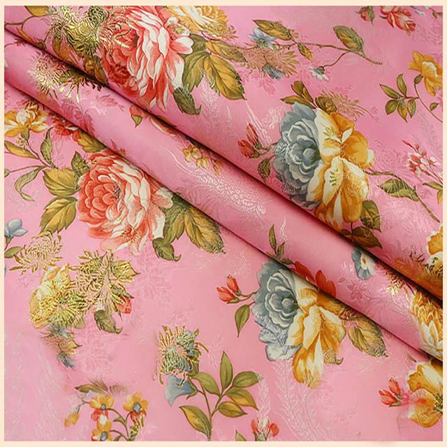Online Shop Ethnic Floral Jacquard Tapestry Satin Silk Brocade