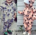 2016 New Autumn Winter Spring Elephant Pattern Romper Baby Boys Girls Toddler's  Jumpsuit  Clothing