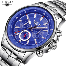 LIGE Часы Мужчины Бизнес Водонепроницаемый Часы Мужские часы Топ бренда Роскошные моды Случайные Спорт Кварцевые наручные часы Relogio Masculino