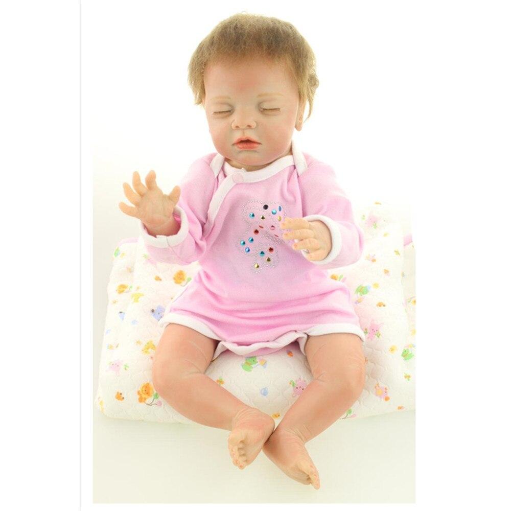 ᗚ45 cm moda adorable silicona renacido bebé muñeca con ropa, 18 ...