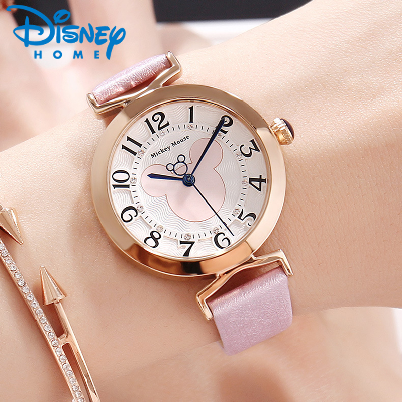 все цены на DISNEY Luxury Watches Women Fashion Casual Leather Quartz Watch Women Ladies Wristwatch Female Clock Hodinky Woman Montre Femme онлайн