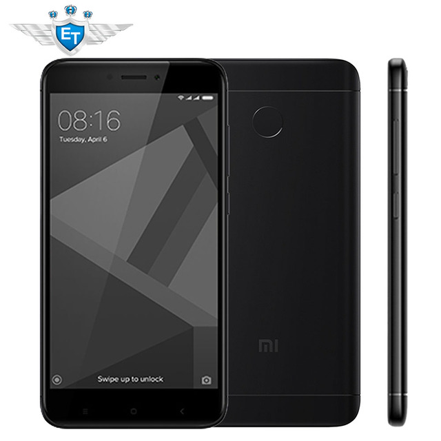 "Xiaomi Redmi 4x32 ГБ глобальной версии 3 ГБ 5.0 ""HD Экран Snapdragon 435 Octa core 4100 мАч 13.0MP FDD LTE оты MIUI8.2"