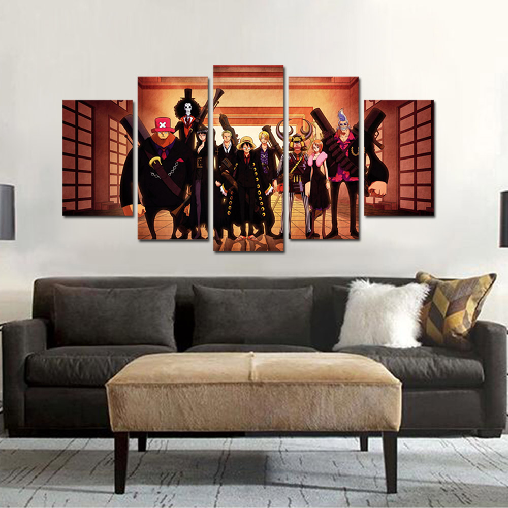 Unframed Canvas Painting Animation One Piece Sauron Luffy Choba Giclee Prints Pictures For Living Room Wall Art Decoration