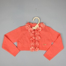 WINTER 2016 High Quality GIRLS Outcoat GIRL SWEATERS Long Sleeve Sweater Girls Clothes witth FLOWERS