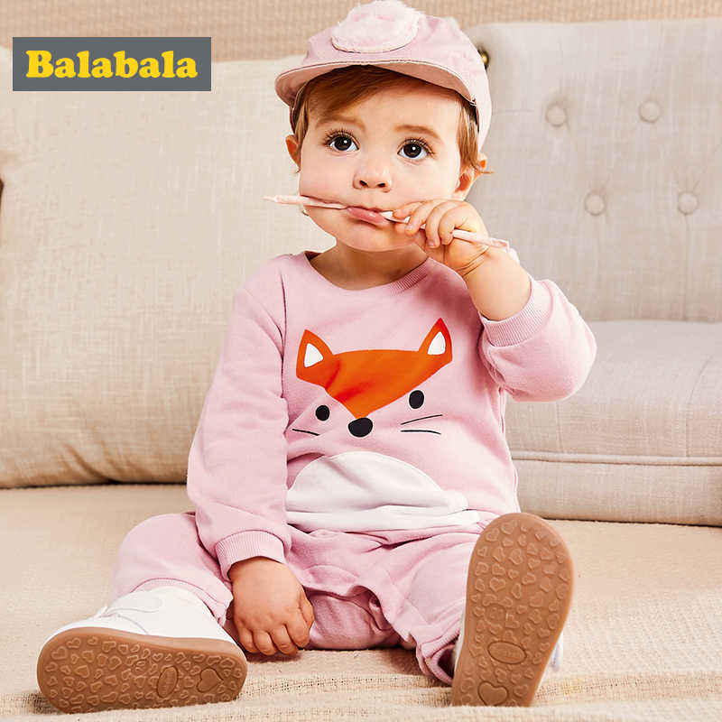 Balabala Baby Jumpsuits newborn rompers unisex spring Long Sleeve 100% cotton fox pattern Costume O-Neck clothes for infants