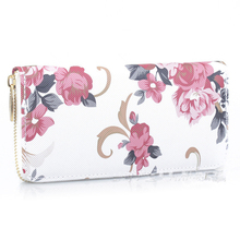 2017 New fashion trend Long high-quality womens wallet printing Large-capacity long Womens leisure sports
