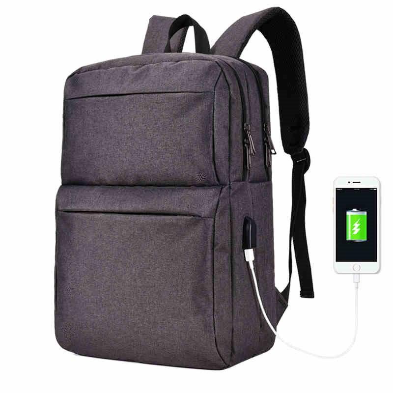 2017 NEW Brand External USB Charge Computer Bag laptop backpack men 15 15.6 inch for Men Women Canvas Notebook Backpack