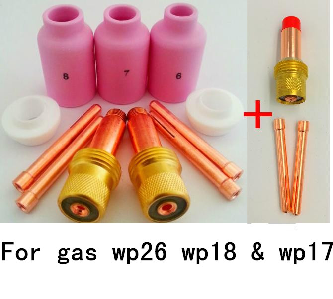 2016 New Free Shipping Super Gas Lens Kit for WP26 WP18 & WP17 Tig Welding Torch PTA DB SR WP 17 18 26 Series