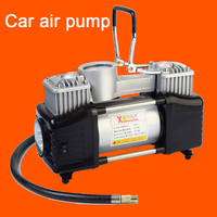 Portable two cylinder car air compressor belt car air pump with LED light tire air pump