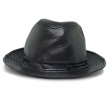 Sombreros de cuero genuino Caps Jazz sombrero Moda hombre para un  rendimiento formales Caballero fresco tapa 24f12b9a3f4