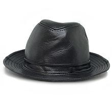 Sombreros de cuero genuino Caps Jazz sombrero Moda hombre para un  rendimiento formales Caballero fresco tapa 9fb7525d74a