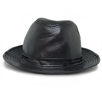 Genuine Leather Fedoras Caps Jazz Hat Mens Fashion For Formal Performance Cool Gentleman Casual Top Hats British Style Panama