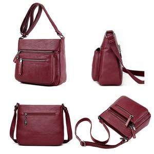 Image 5 - Moda feminina de alta qualidade couro crossbody sacos 2018 designer feminino luxo bolsa ombro lazer tote para a senhora bolsa de ombro