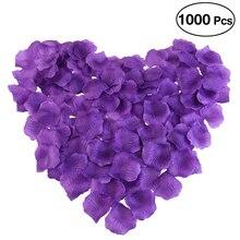 1000pcs Purple Silk Rose Petals Decorations for Wedding Party Romantic Supplies Favor