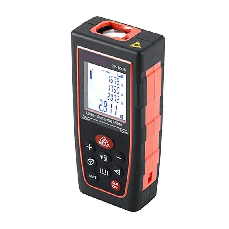 40M LCD Laser Rangefinder Telemetre Area Volume Level Angle Guage Meter 60M 100M Portable USB Tape Laser Distance Measure Tools