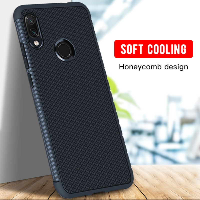 Ultra Thin Phone Case For Xiaomi Redmi Note 7 Pro 5 6 Pro 6A 5 Plus Mi A2 Lite Heat Dissipation Silicone Cases Back Cover