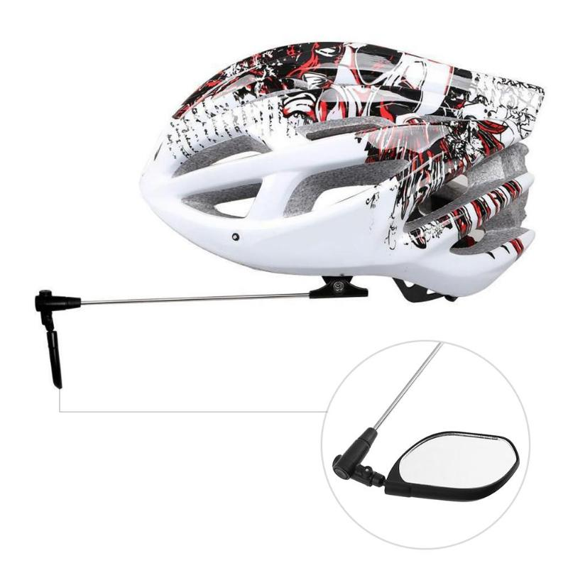 Cycling Helmet Mirror Rear Back View Watch 360 Degree Rotatable 90 Degree Folding Helmet Rear View Mirror for Bike Bicycle ...