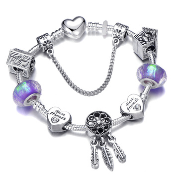 Cute Mickey Mouse Themed Bracelet Bracelets Jewelry New Arrivals Women Jewelry Metal Color: 18 Length: 21cm