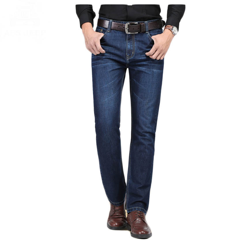 ФОТО Free shipping Man Fashion Jeans Autumn Winter Mens Jeans Straight High Quality Denim Pants Male Trousers Jean Man Classic 58hfx