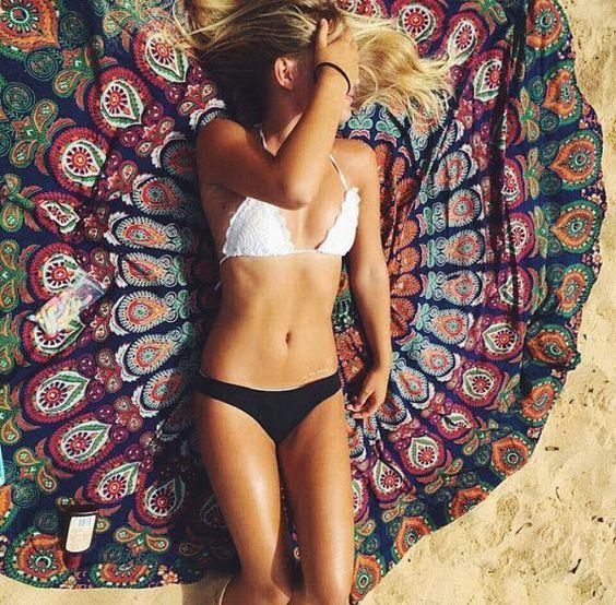 Круглое пляжное полотенце | Aliexpress