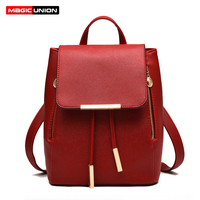 MAGIC UNION Fashion Women Backpack Big Crown Embroidered Sequins Backpack Women Leather Backpacks High Quality Girls