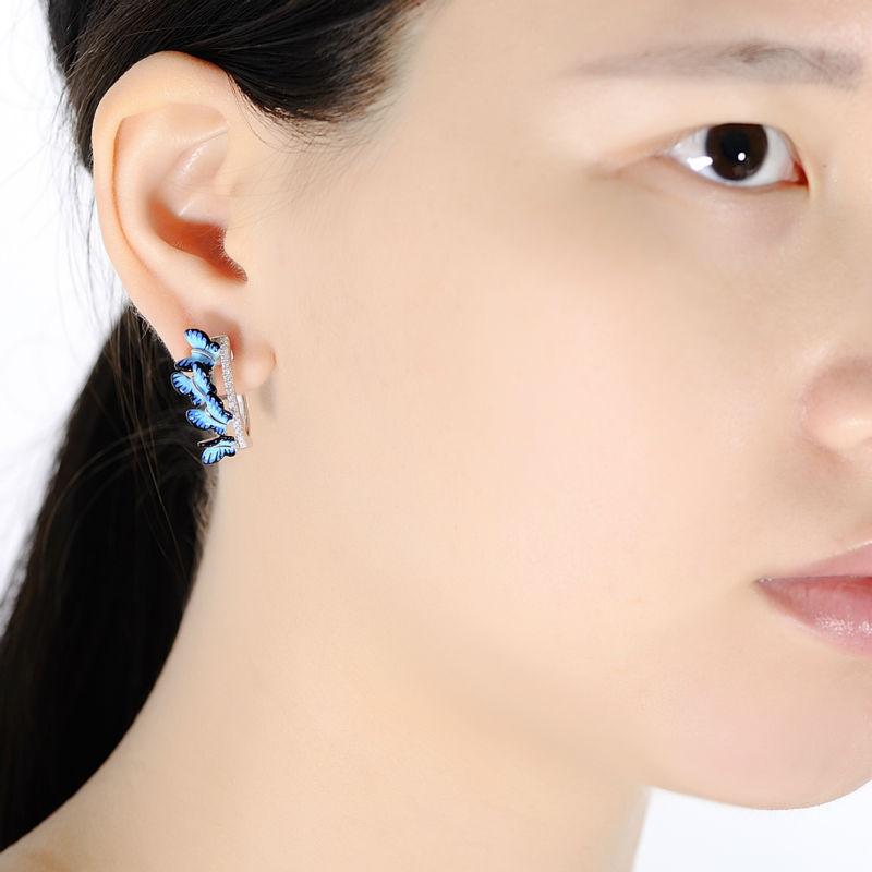 SANTUZZA Sølv Øreringe For Kvinder 925 Sterling Sølv Stud - Mode smykker - Foto 5