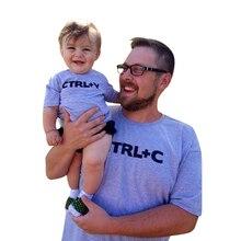 2019 juego de trajes de verano CTRL + C CTRL + V Padre hijo camisa familia juego ropa de papá y las niñas conjunto de ropa de bebé