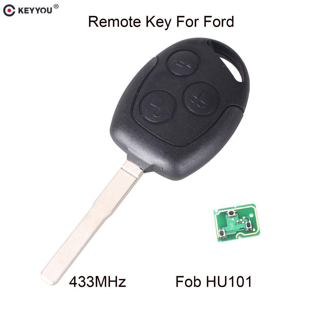 KEYYOU 3 Buttons Remote Key 433Mhz HU101 Blade ForFor Ford Mondeo Focus Transit Full