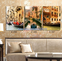 Needlework Full Square Drill Pictures Of The Diamonds Mosaic 3d Diamond Embroidery Diamond Paintings Boat Scenery