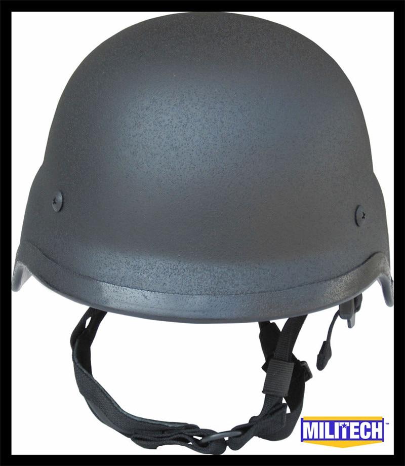 MILITECH NIJ IIIA 3A Black M88 Steel Bullet Proof Helmet Steel Ballistic Helmet PASGT Steel Bulletproof Helmet With Test Report