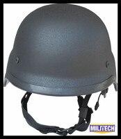 NIJ IIIA Black M88 Steel Bullet Proof Helmet Steel Helmet PASGT Steel Bulletproof Helmet With Test