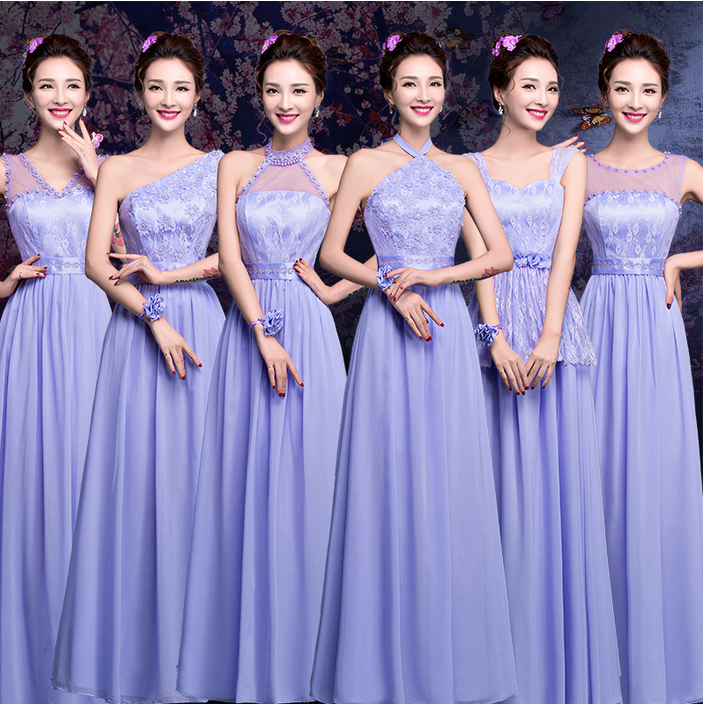 Attractive Purple And Blue Bridesmaid Dresses Gift - Wedding Ideas ...