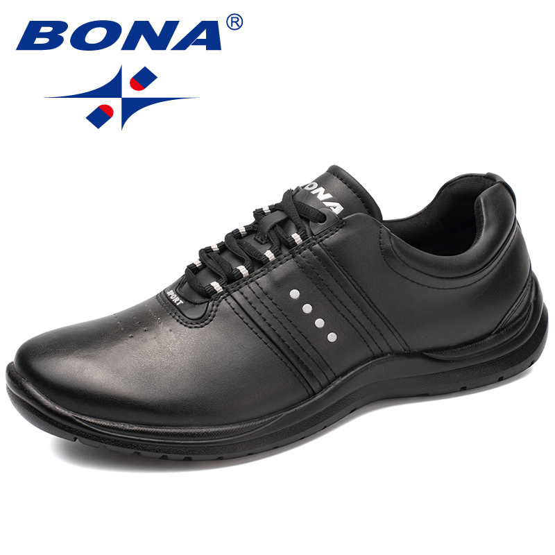 BONA New Classics Style Men Casual Shoes Microfiber Lace Up Men Shoes Comfortable Loafers Breathable Soft Light Free Shipping цена 2017