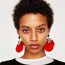 Miwens Big Brand Za Drop Tassel Earrings Bohemian Ethnic Statement Fashion Jewelry Women Street Fringe Earrings Pendientes 10054