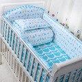 2016 nuevo 6 Unids/set de dibujos animados cuna transpirable de algodón forro protector de parachoques cuna cuna juegos de cama de bebé bebé ropa de cama de parachoques