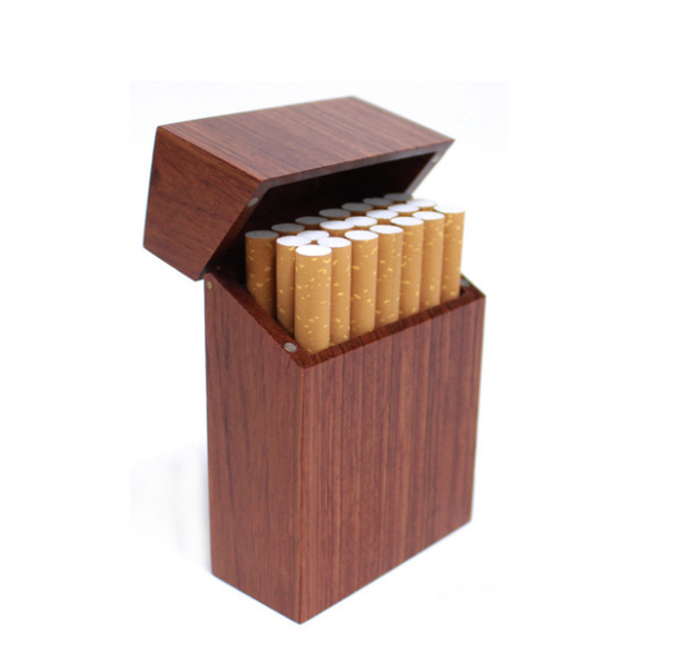 Innovative Magnet Adsorption Flip Type Wooden Cigarette Box …
