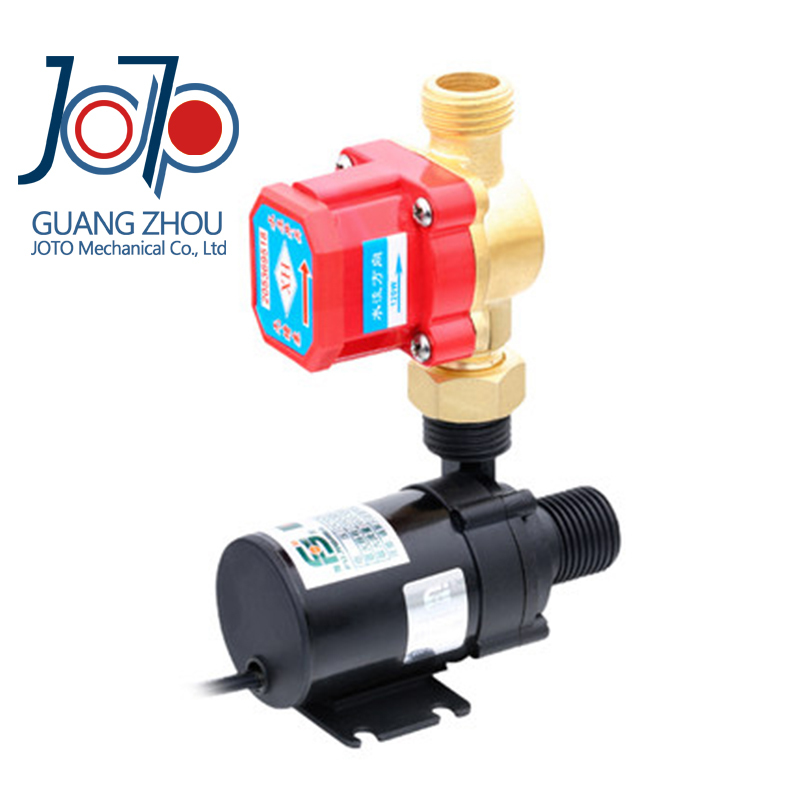 dhl free shipping Brushless Self-priming Pressurized Water Heater Booster Pump with Flow switch цена