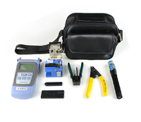8 In 1 FTTH Fiber Optic Tool Kit With FC 6S Fiber Cleaver And Double Port