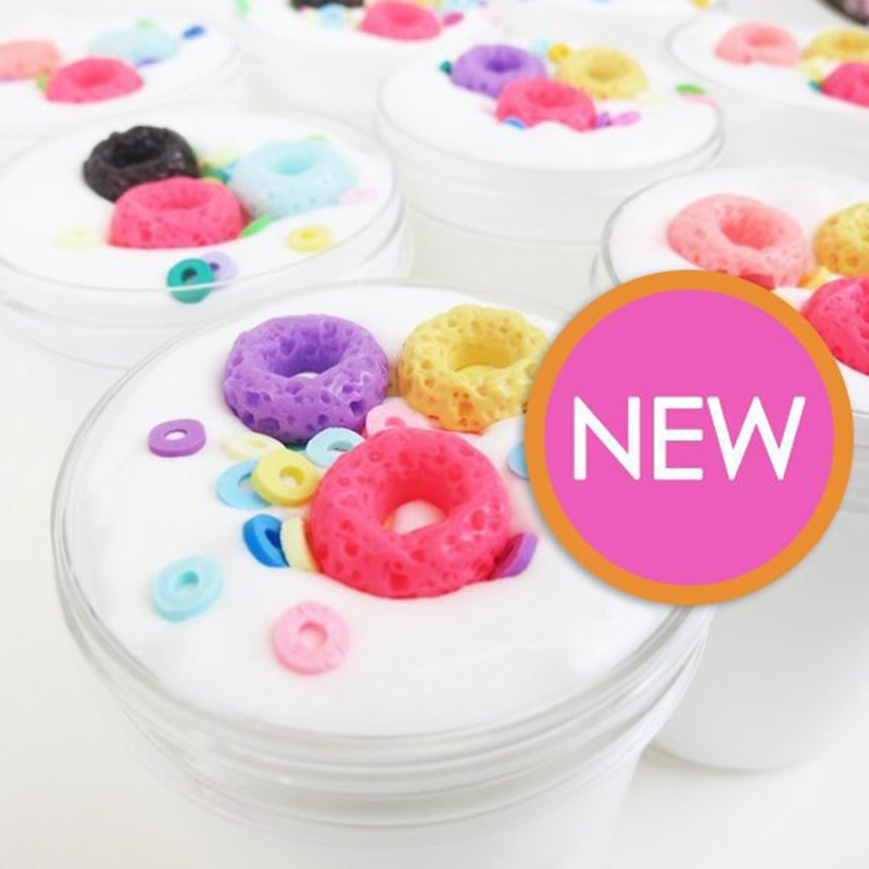 2019 New Scented Fluffy Donut Slime Squishy Reliever Sludge Funny Candy Slime Toys For Kids Boys Girls Adults Antistress Toy