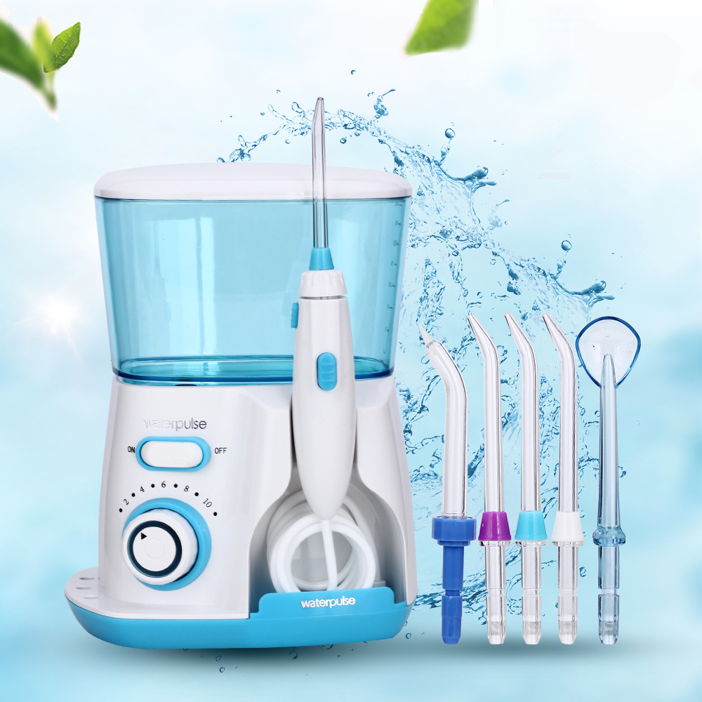 V300G Water Dental Flosser With 5 Tips Electric Oral Irrigator Dental Flosser 800ml Capacity Oral Hygiene For Family Care