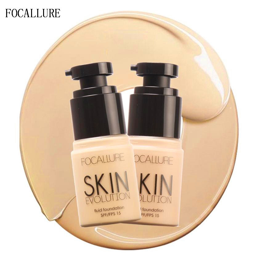 FOCALLURE font b Face b font Foundation Makeup Base Liquid Concealer Moisturizer Oil control Beauty Girl