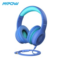 Mpow CH6 Cute Hearing Protection Headphones For Kids Over Ear Wired Kids Headphones With Microphone For Phones/Tablets/PC/Laptop