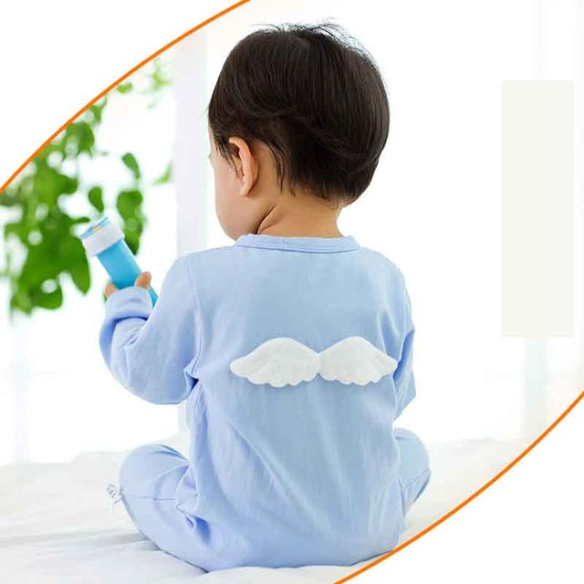 New Autumn Baby Clothes Cotton Soft Baby Rompers With Wings Coverall Jumpsuit For Toodler Infant Boy Girl Clothes Newborn Romper